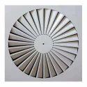 Air Space Aluminium Swirl Ceiling Diffuser, For Industrial