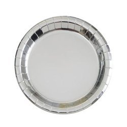 Swastik Silver Paper Plate
