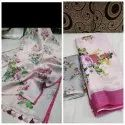 Pure Linen Digital Print Saree