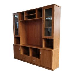 Brown Wooden TV Wall Unit
