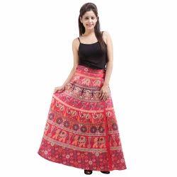 Sanganeri Wrap Around Skirt