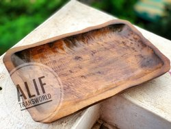 Handcrafted wood Antique Wooden Tray, Shape: Rectangle, Size: Custom