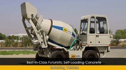 Self Loading Concrete Mixer Vehicle