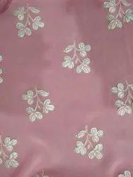 Designer Cotton Embroidered Fabric