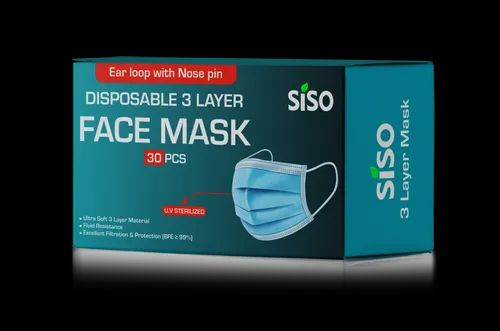Siso 3 Ply Disposable Face Mask