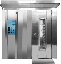 Three Phase SS Rotary Rack Oven, For Biscuit, Capacity: 100-500 Kg