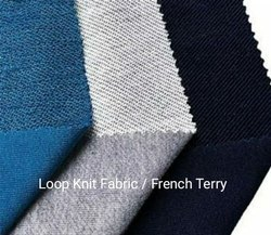 Spun Plain LOOPKNIT TERRY, For Garment, Model Name/Number: Janta Fabrics