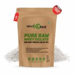 Healthoxide Pure Raw Whey Protein Isolate 90% 1 kg, Packaging Type: Pouch