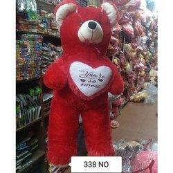 Red Teddy Bear 5 Feet, Cotton Fur 3 5 Feet Red Plush Teddy Bear Rs 1500 Piece New Veer Sports Game Toys Id 21952602033