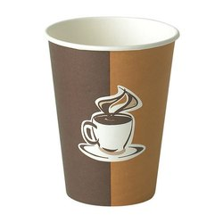 Printed Disposable Paper Cup, Packet Size: 100 Pieces, Capacity: 330 ml