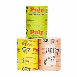 PULP POS Thermal Rolls 78 / 79 / 80 mm (3 inch) 50 GSM Black Impression 45 meters