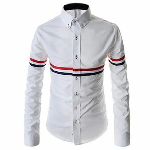 2e15eb5925fa White Cotton Men's Designer Shirt, Size: 38 To 54, Rs 200 /piece ...