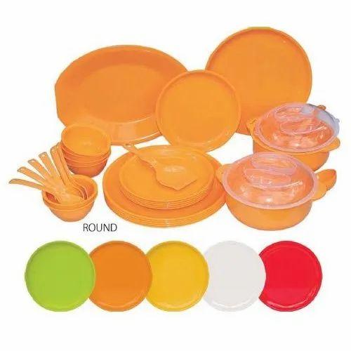 Dinnerware Plates Bowls Dinner Service Set Crockery Plain Dinnerset 6 12 18 Pc