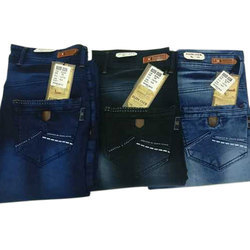 Cotton Knitted Multicolored Plain Jeans