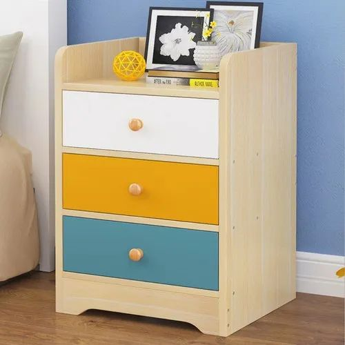 White Bedside Cabinet 3 Drawers Chest Storage Table Modern Bedroom Furniture New