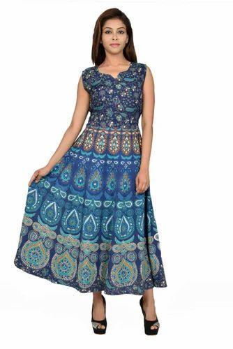 Jaipuri Bandhej Multi Color Formal Rajasthani Girls Dresses Rs 250
