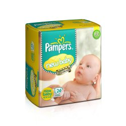 Cotton Disposable Pampers Baby Diaper, Age Group: Newly Born, Packaging Size: 24 Diapers