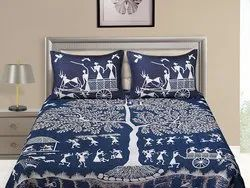Big Tree Print Cotton Bedsheet for Double Bed