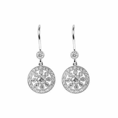 Cer Hanging Diamond Earrings