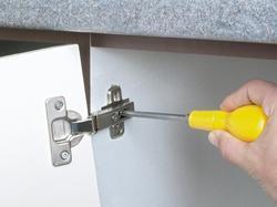 Iron Cabinet Door Hinges Packaging 100 Piece