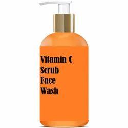 草药橙色维生素C磨砂膏脸部洗涤,特点:美白和亮化