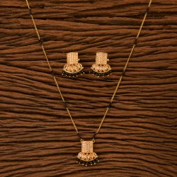 Antique Long Pendant set with gold plating 23059