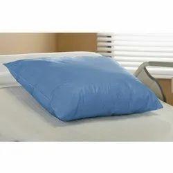 Blue Plain Disposable Pillow Cover