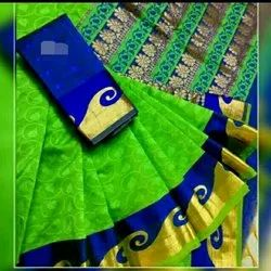 Silk Cotton Empose Saree