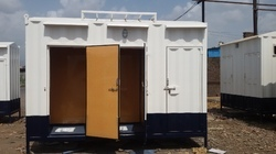Mobile portable toilet cabin