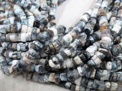 Dendrite Agate Merlinite Gemstone Heishi Semi Precious Stone Beads