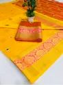 Kundan South Cotton Contrast Pallu Saree