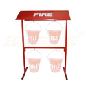 Powder Coated  Fire Bucket Stand For 4 Bucket