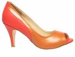 Bata Tan Brown Women Heels Shoes