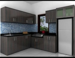 Residential L Shape Modular Kitchen