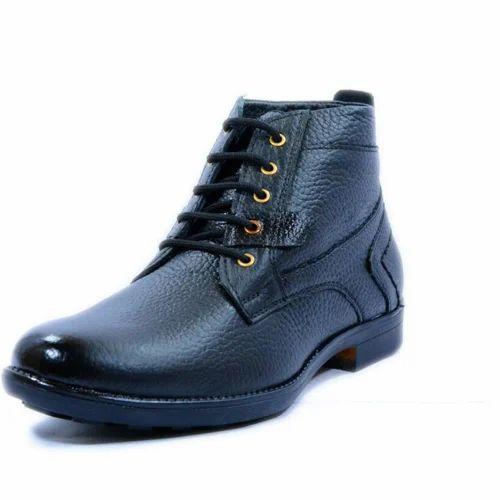 Men Formal Black Boot, Size: 6-12, Rs