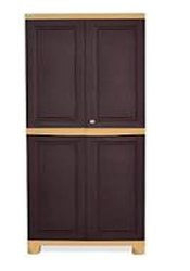 Nilkamal Freedom Mini Medium(Fmm)Plastic Free Standing Cabinet(Finish Color-Weathered Brown &Biscuit