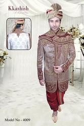 S And L Velvet Mens Wedding Sherwani