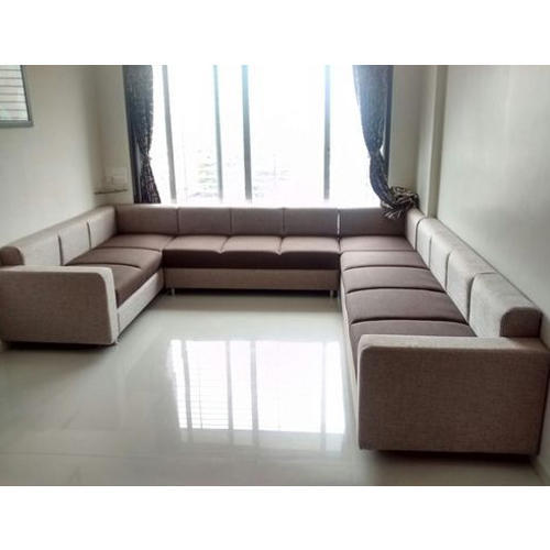 Stylish Sofa Set Contemporary Beige Leather