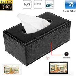 WIFI 1080P HD Spy Tissue Box Hidden Video Camera