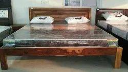 Brown Antique Cot Bed
