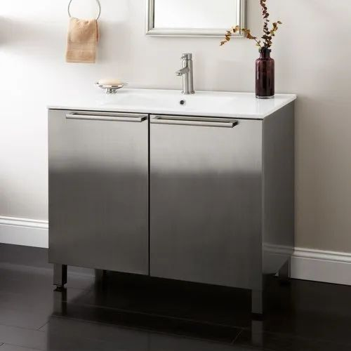 Floor Mounted Stainless Steel Bathroom Vanity Antique