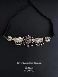 Brass Silver Finish Choker
