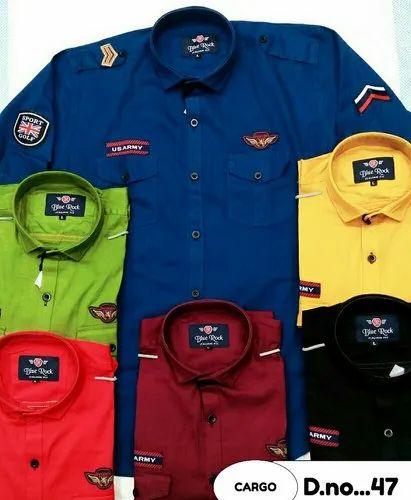 f5852363c00 6 Colours Cotton Linen Mens Funky Shirt