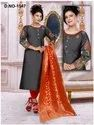 Embroidery 3/4th Sleeves Cotton Kurti