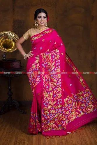 Silk Cotton Dhakai Jamdani Sarees, 5.5 m without Blouse Piece