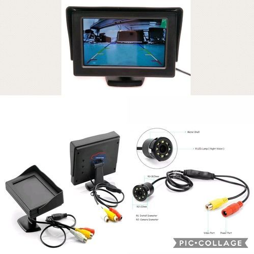 5 Inch Foldable Car Dashboard LED Monitor Screen for Rear View Parking Camera