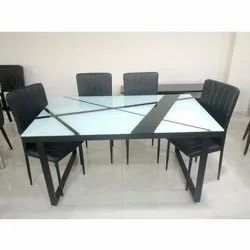Rectangular Wooden Dining Table Set