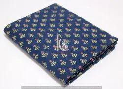Indian Indigo Blue Multi Fast Color Hand Block Print Cotton Fabric