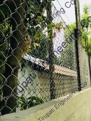 Wall Top GI Chain Link Mesh Fabric