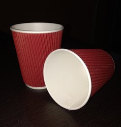 250 mL Ripple Paper Cups, Packaging: 25 cups/pack